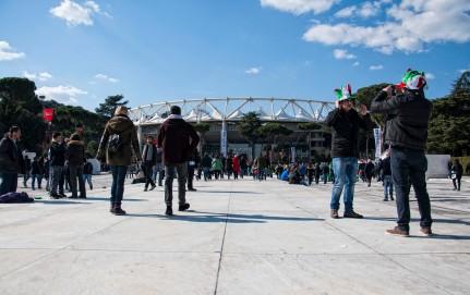 Verso lo stadio
